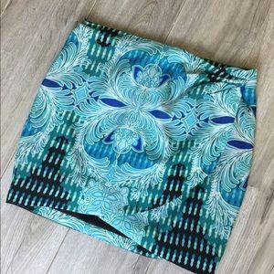 BeBe Multi Blue Mini Skirt Size 0 (B-99) NWOT